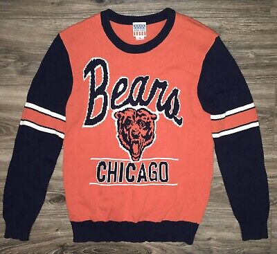 Chicago Bears Ugly Christmas Holiday Logo Sweater Large Junk Food Ditka ()
