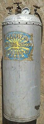 Antique GLORIA LIGHTING OXO GAS HEATING APPLIANCES Steampunk Rat Rod Gas Tank