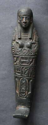 LARGE BLACK ANCIENT EGYPTIAN SHABTI