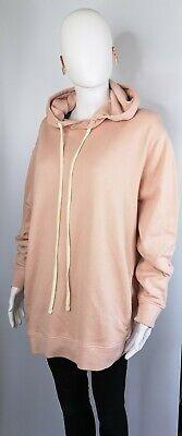 All Saints Medium 10 12 14 Sweatshirt Jumper Hoodie Top Pink Boyfriend...