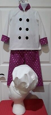 Chef Hat Costume (Size 4 Chef Costume with Hat)