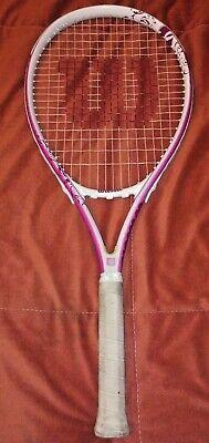 Wilson HOPE Tennis Racquet Racket Pink Breast Cancer Awareness 4 1/4 Grip Wilson Hope Tennis Racket