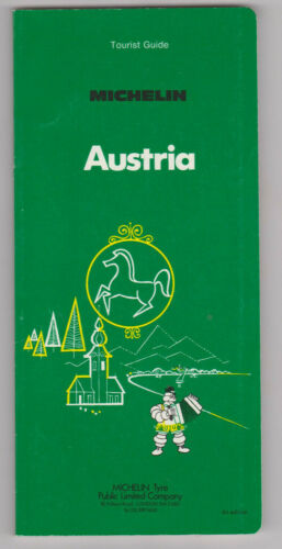 "1982 Michelin Tire Green  ""Austria"" 177 Pages./Several Maps/Tourist Guide"