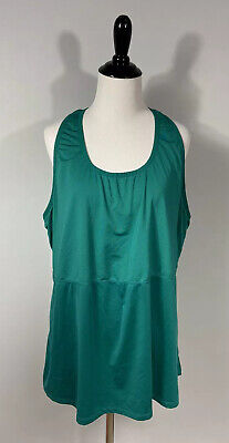 Fabletics Tank Top XL Pine Green Racer Back