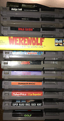 NES Nintendo games lot 11 Cartridges plus Game Genie