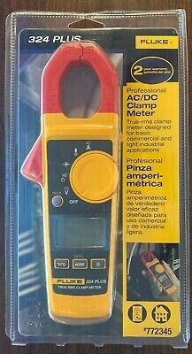 Fluke 324 Plus Professional Acdc Clamp Meter 772345 True Rms - Brand New