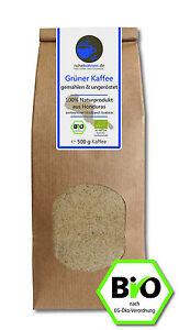 Grüner Kaffee Bio gemahlen - Rohkaffee Honduras 500g -Green Coffee Abnehmen Diät