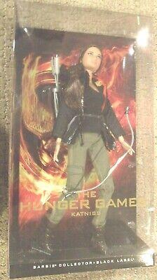 El Hambre Juegos Katniss Barbie 1st En Serie Negro Etiqueta
