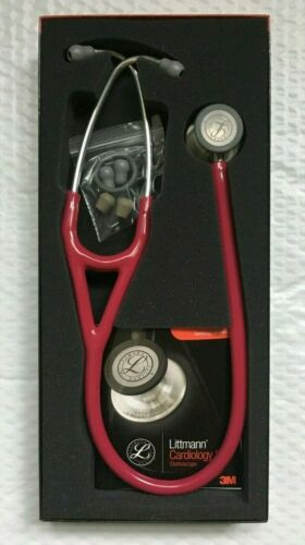 "LITTMANN 3M Cardiology IV Stethoscope 27"" Raspberry Tube Silver Chestpiece 6158"