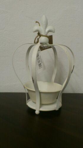 Vaso di erbe GIGLI Lanterna a vento Corona in metallo shabby Cottage stile