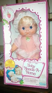 Strawberry Shortcake Blow Kiss Doll Baby Needs A Name Kenner MIB