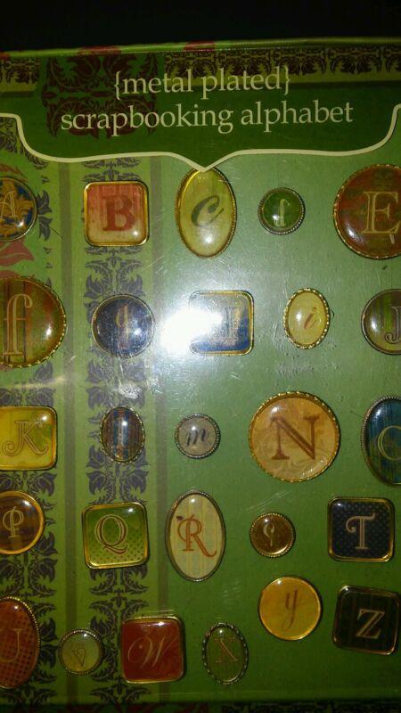 Art or scrapbooking metal alphabets from PORTAFOLIA