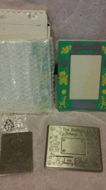 2 New Baby Photo Frames & 2 Engraveable Pewter Children