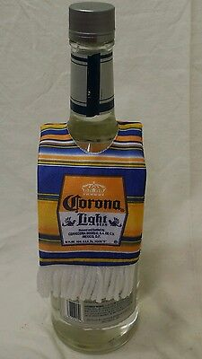 Corona light beer cover poncho drink mexican gift party koozie NEW Cinco De Mayo