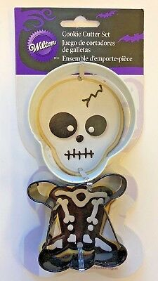 Wilton Halloween Skeleton 2 part Cookie Cutters Party Supply trick or treat - Halloween Treats Part 2