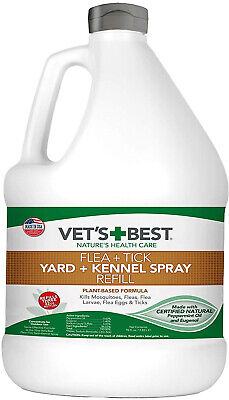 96 Ounces REFILL Vets Best Flea Mosquito And Tick Yard Kennel Spray