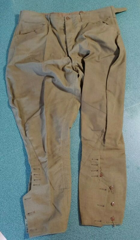 Original Vintage WW1 US Army Cavalry Medic Riding Pants Trousers Sigmund Eisner