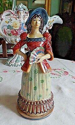 Ungewöhnlicher Vintage Französische Majolika Regional Kostüm Figur - Ungewöhnlich Kostüm