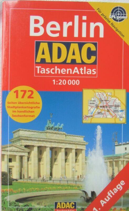 BERLIN =Taschenatlas-ADAC (1:20 000) 1. AUFLAGE- ZUSTAND sehr gut