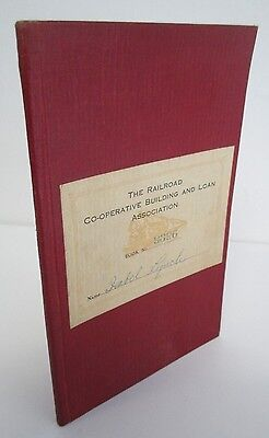 1923 RAILROAD CO-OPERATIVE BUILDING & LOAN ASSOC Payment Book