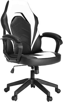 Office Chair High Back Computer Racing Gaming Chair Ergonomic Chair White