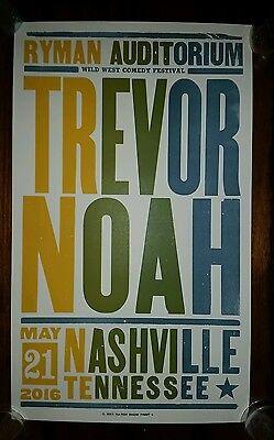 Trevor Noah Ryman Hatch Print Nashville 2016 Poster Daily Show Comedy Central