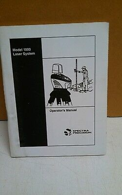 Spectra Laserplane 1000 User Manual Laser Level