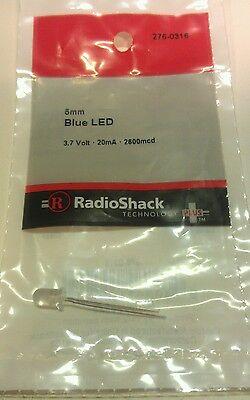 Blue Led 5mm 3.7 Volt 20ma 2600mcd 276-0316 By Radioshack