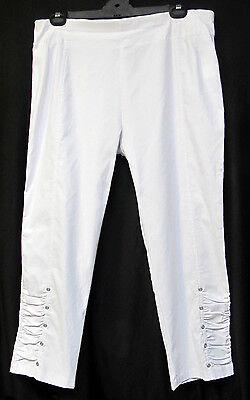 TS pants TAKING SHAPE plus sz XL / 24 'Eyelet Dry Twill' 3/4 stretch NWT rp$110!