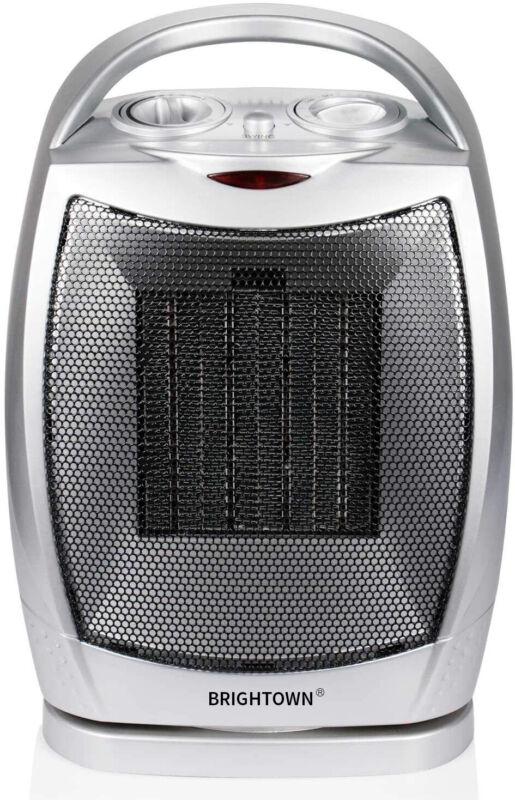 Brightown 750w/1500w Electric Portable Quiet Space Heater Adjustable Thermostat
