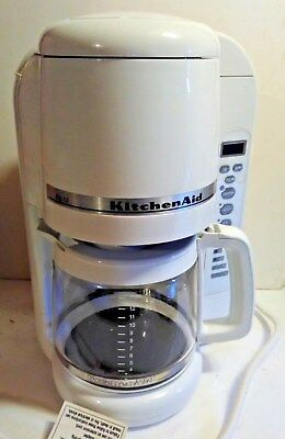 Kitchen Aid KCM400WH 12 Cups Coffee Maker White used Clean coffee machine