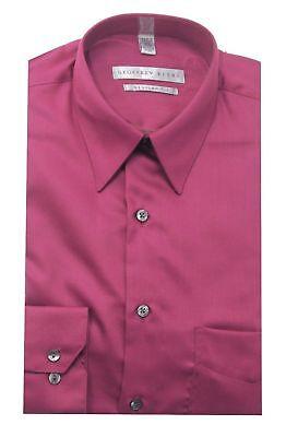 Geoffrey Beene Wrinkle Free Regular Fit Cotton Blend Pink Sateen Dress Shirt - Geoffrey Beene Wrinkle Free Dress Shirt