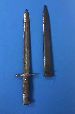 Spanish American War US Army M1892 Krag Rifle Bayonet Scabbard - Dated 1900 (1W)