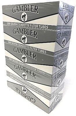 Gambler Silver Ultra Light King Size Ks RYO Cigarette Tubes 5 Boxes (1000 Tubes)