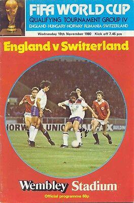 1980 England v Switzerland