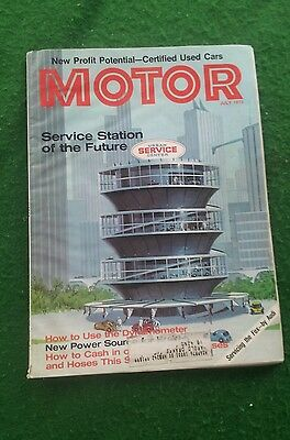 July 1973 Motor Print Ad informational magazine