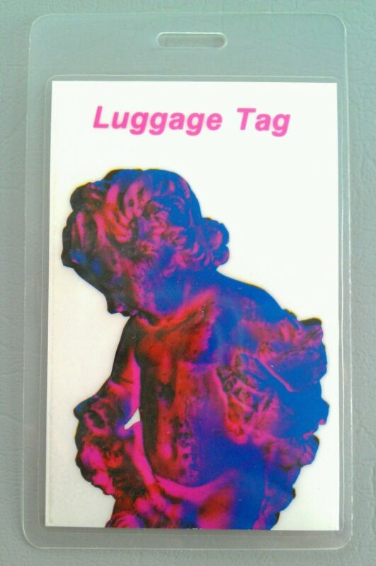1989 JOY DIVISION NEW ORDER LAMINATED BACKSTAGE PASS WHITE LUGGAGE TAG