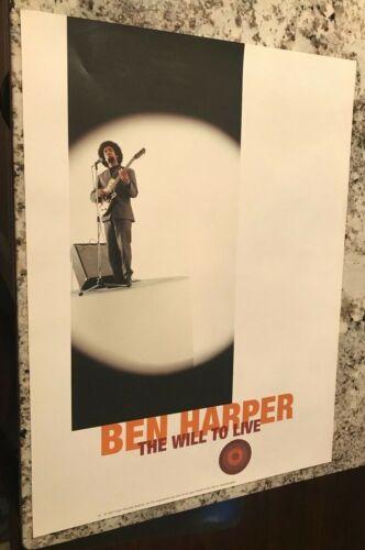 BEN HARPER 1997 WILL TO LIVE RARE PROMO POSTER INDY ALTERNATIVE ROCK 24X18