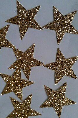 20 Hotfix iron on transfers gold glitter stars size 3.5cm for halloween costumes - 20 Star Halloween Costumes