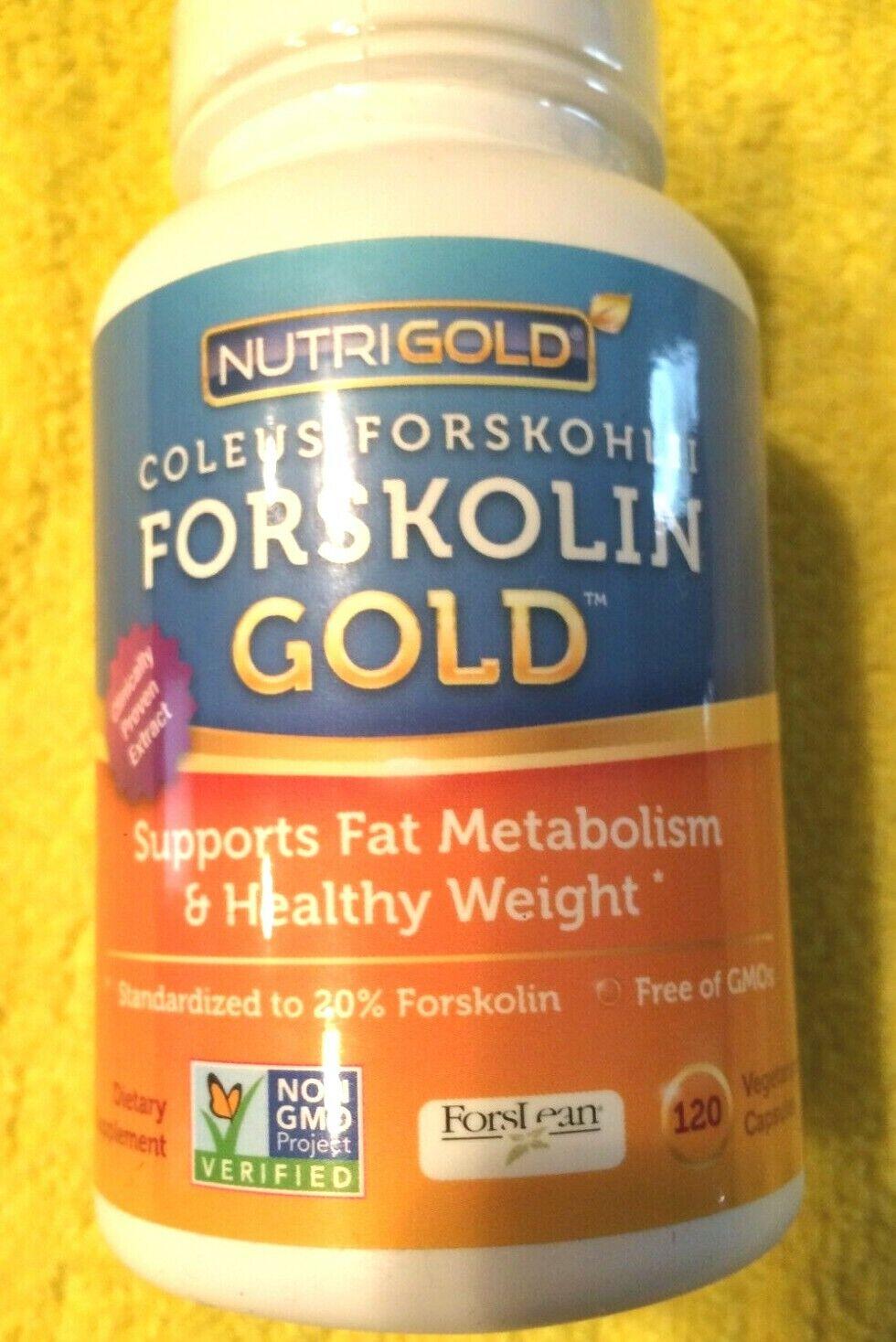 Coleus Forskohlii Forskolin Gold  120 Capsules