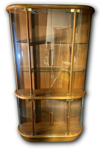 Mid century Teak Curio display Cabinet by vantinge mobelindustri A/S Denmark
