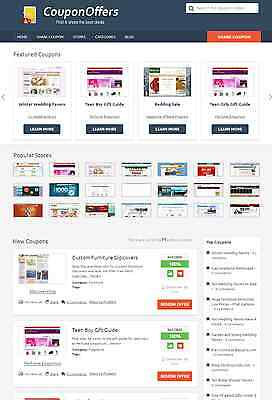 Coupon Website (Coupons Discount Codes Sharing Website - Auto Pilot - Free Hosting +)