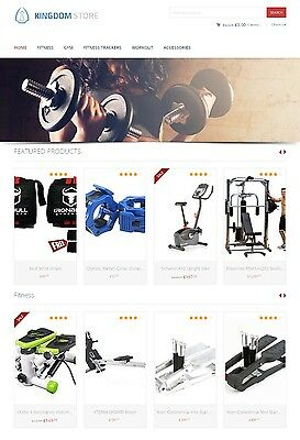 Fitness Products Store - Autopilot Affiliate Website Shopping Cart