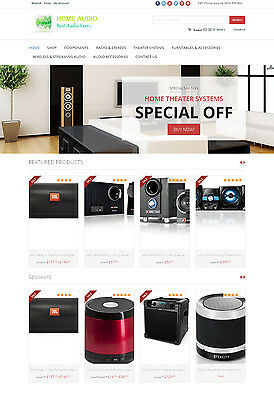 Home Audio Systems Store - Turnkey Amazon Affiliate Website Shopping Cart