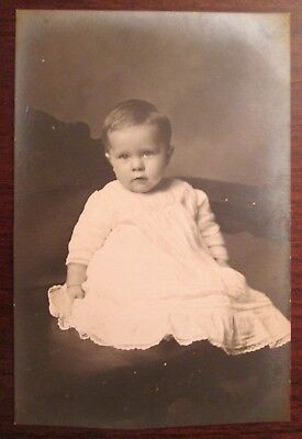 Antique Photo Post Card of Guy W. Rickert at 8 Months Old Dated Dec. 17, 1912