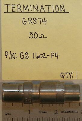 Gr874 Termination 50 Ohm Pn Gs 1602-p4