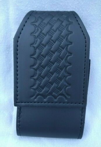 PERFECT FIT LEATHER DUTY BELT BASKETWEAVE CELL PHONE CASE  NOS    12