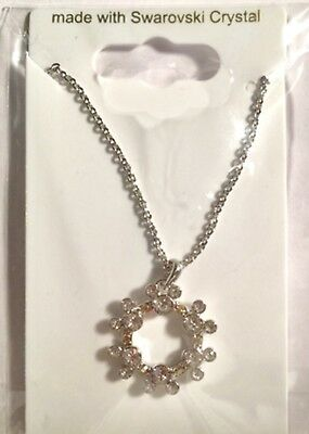 NEW DISNEY ARRIBAS MICKEY MOUSE ICON CIRCLE NECKLACE WITH SWAROVSKI CRYSTAL