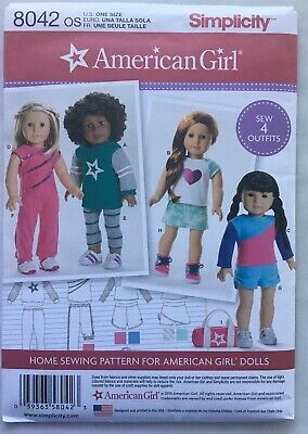 Simplicity Sewing Pattern 8042 American Girl 18