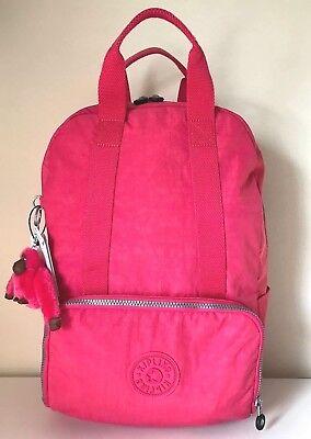 Kipling Pippin Backpack Purse School Travel Shoulder Bag Vibrant Pink NWT